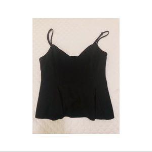 Black zara pleated top